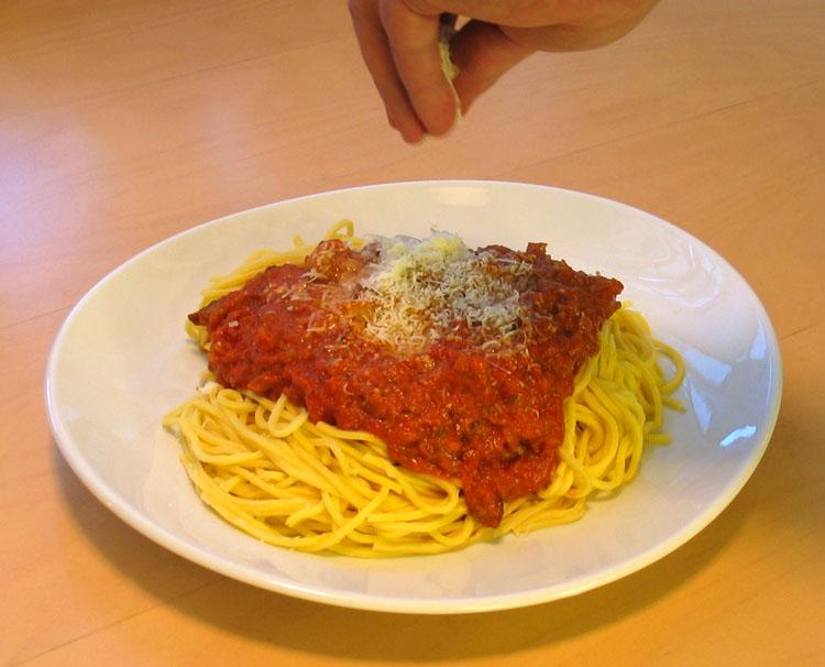 Egen tomatsås pasta